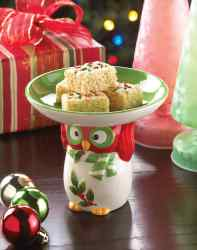 Wholesale Holiday Hoot Candy Dish for sale at  bulk cheap prices!