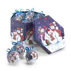 Wholesale Wintery Night Snowman Ornament Set for sale at  bulk cheap prices!