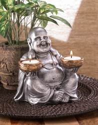 Wholesale Sitting Buddha Candleholder for sale at bulk cheap prices!