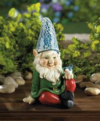 Wholesale Cheery Gnome Solar Statue for sale at bulk cheap prices!