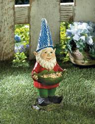Wholesale Bird Feeder Gnome Solar Statue for sale at bulk cheap prices!
