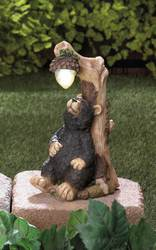 Wholesale Black Bear Solar Statue for sale at bulk cheap prices!