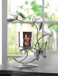 Purple Butterfly Candleholder