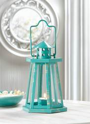 Wholesale Aqua Lighthouse Mini Lantern for sale at bulk cheap prices!