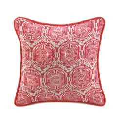 Jute Red Pillow