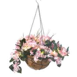 Pink Hydrangea Hanging Basket