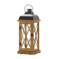 Hayloft Large Wooden Candle Lantern
