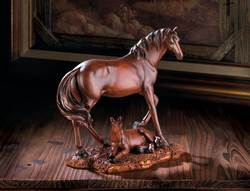 Wholesale Mother And Foal Horse Statue for sale at bulk cheap prices!