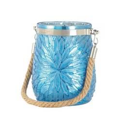 Blue Flower Candleholder