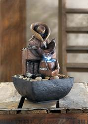 Wholesale Cowboy Gear Tabletop Water Fountain For Sale At Bulk Cheap Prices!
