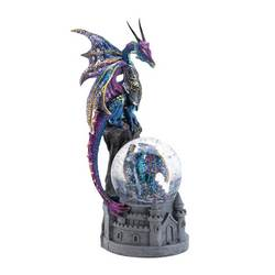wholesale dragon castle glittering snow globe