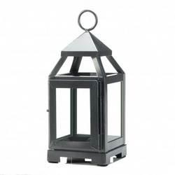 Silver Mini Contemporary Lantern