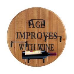 Aged Round Wine Wall Rack