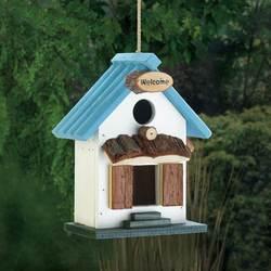 Blue Rooftop Birdhouse