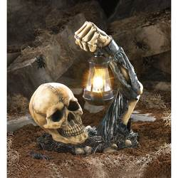 Wholesale Sinister Skull With Lantern for sale at bulk cheap prices!