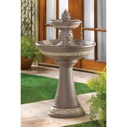Mosaic Courtyard Pineapple Fountain
