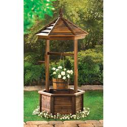 Rustic Wishing Well Planter