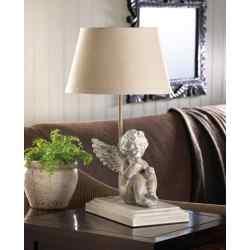 Musing Cherub Lamp