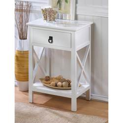 White Glossy Finish Side Table