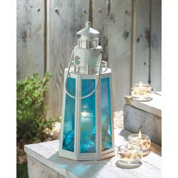 Wholesale Ocean Blue Lighthouse Lamp Candle for sale at bulk cheap prices!