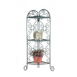 Wholesale Metal Corner Stand With Shelves for sale at bulk cheap prices!