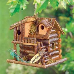 Wholesale Wood Fishing Cabin Birdhouse for sale at bulk cheap prices!