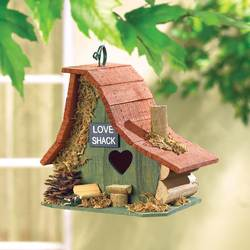 Wholesale Wood Love Shack Birdhouse for sale at bulk cheap prices!