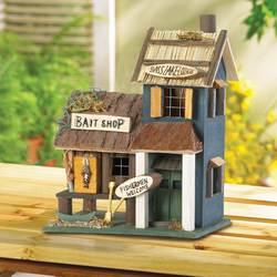 Wholesale Wood Bait Shop Birdhouse for sale at bulk cheap prices!