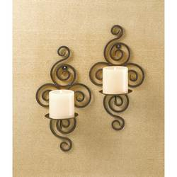 Wholesale Wrought Iron Swirl Sconces for sale at bulk cheap prices!