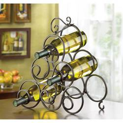 Wholesale Wrought Iron Swirl Wine Rack for sale at bulk cheap prices!