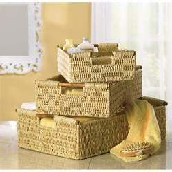 Wholesale Woven Corn Husk Nesting Baskets for sale at bulk cheap prices!