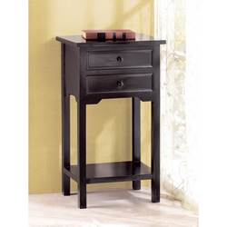 Wholesale Black Table with 2 Drawers for sale at bulk cheap prices!