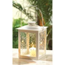 large white color glass lantern