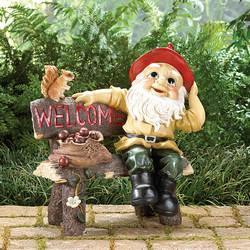 Wholesale Garden Gnome Greeting Sign for sale at bulk cheap prices!