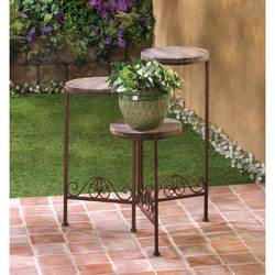 Wholesale Rustic Triple Planter Stand for sale at bulk cheap prices!