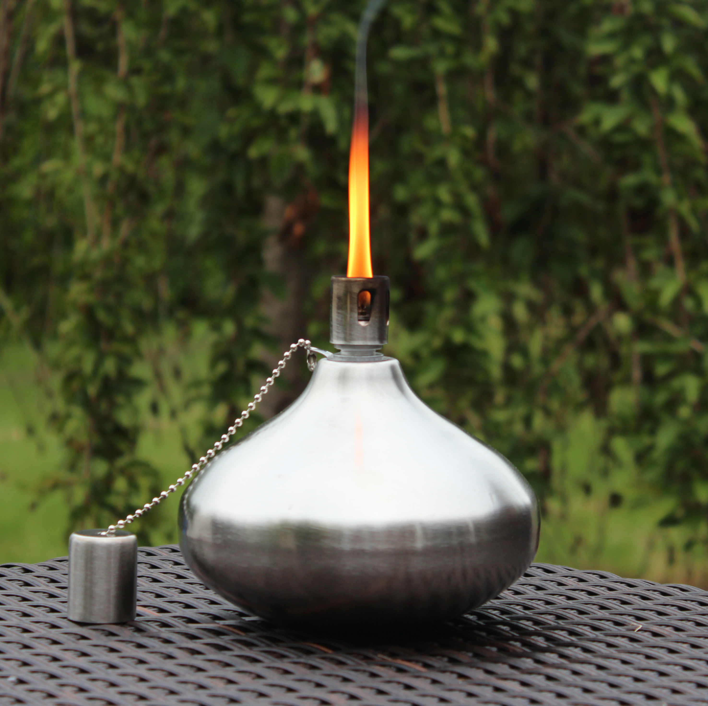 Incroyable Stainless Steel Teardrop Table Tiki Torch   SHG 209 ...