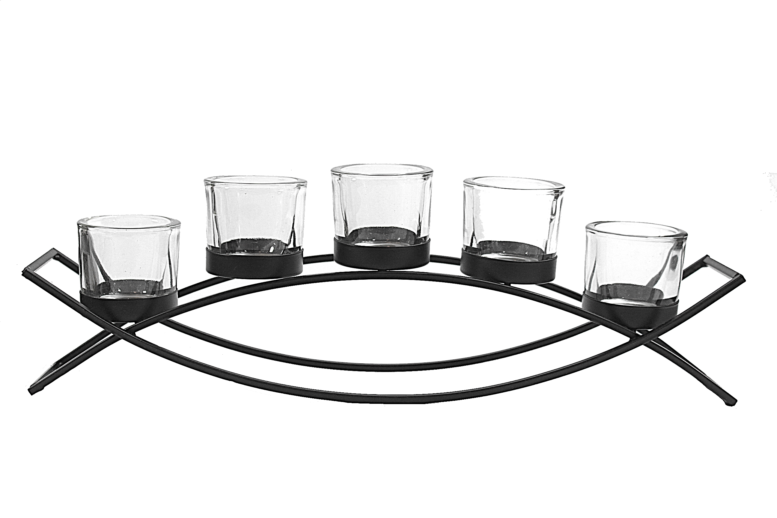 5 Cup Arch Iron Centerpiece Candle Holder