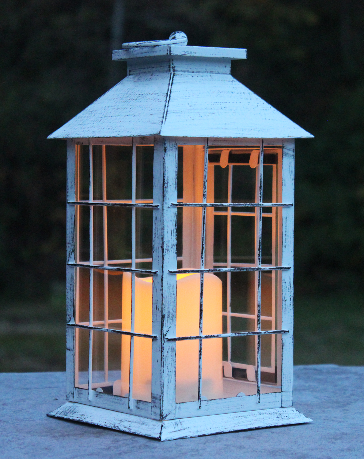 Wholesale White Rustic Lantern With Flameless Led Candle Buy Wholesale Led Candles Lanterns