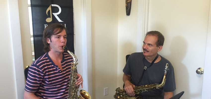 Jazz sax improv lesson with losangelesmusicteachers.com