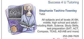 SAT tutoring package of 8 lessons