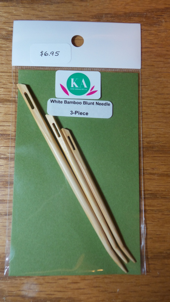 Curved bamboo needle