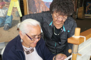 Navajo weaving techniques class August 2019