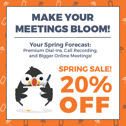 Make Your Meetings Bloom Ad Banner