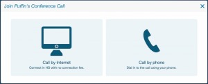 Call by Phone or Call by Web with Web Conferencing