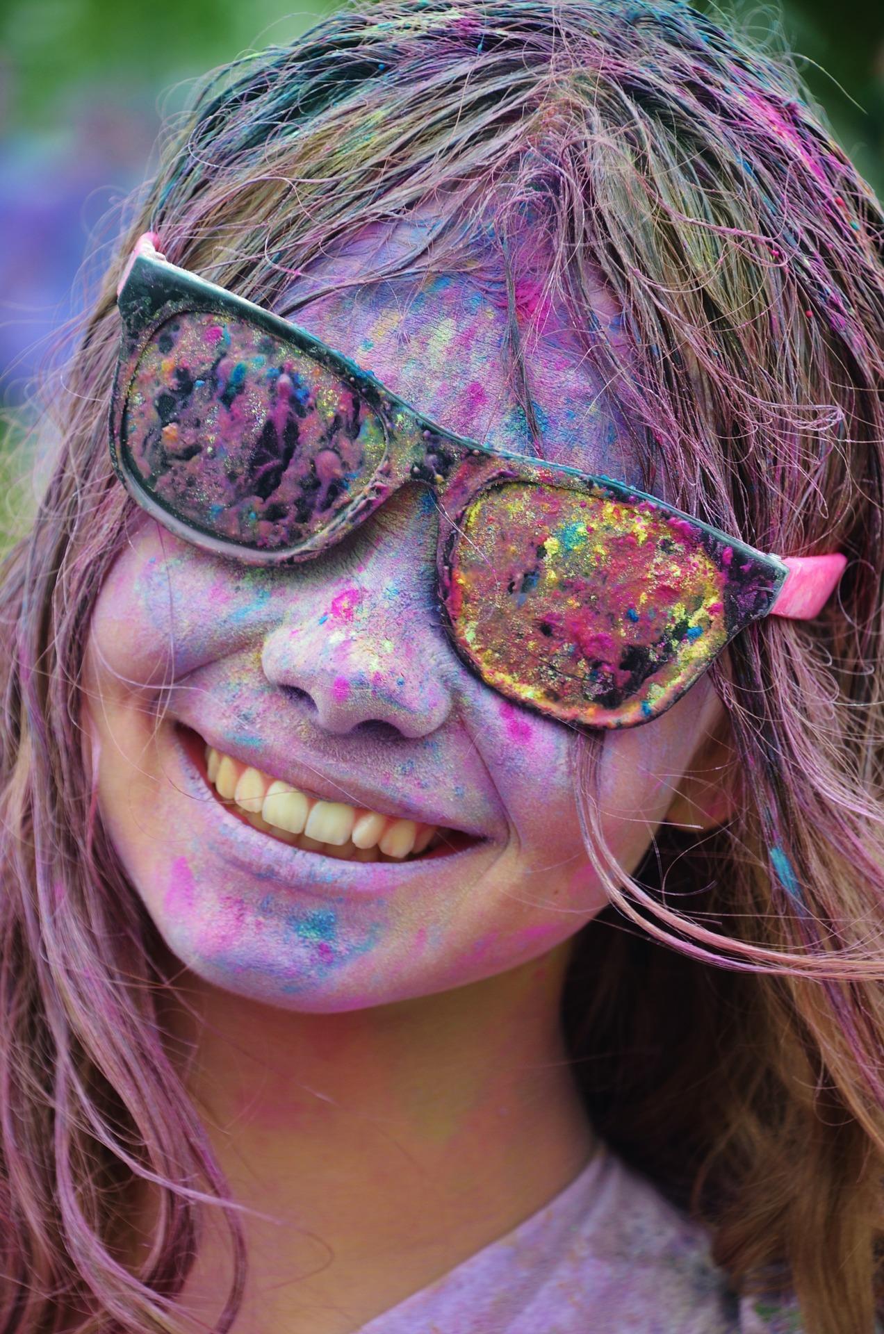 painted girl sunglasses