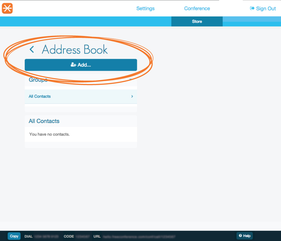 address book circled