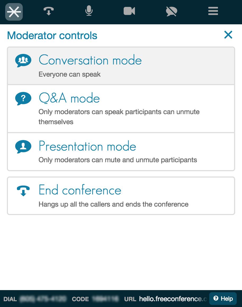 Moderator Controls