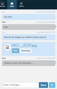 Text Chat in a Online Meeting