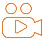 FC Orange Icon- Video Conference Calls & Screen Sharing