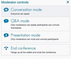FreeConference.com Moderator Controls